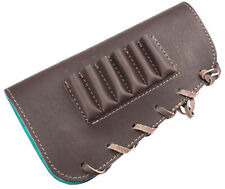 buttstock cover, 6 rifle cartridges holder, genuine leather, brown RH