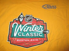 Bud Light Beer BOSTON BRUINS 2010 Winter Classic FENWAY PARK (LG) T-Shirt YELLOW