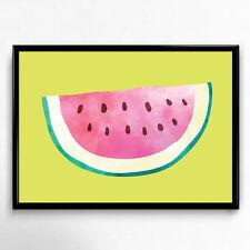 Bild Melone Modern Kunstdruck A4 Küche Früchte Deko Wasserfarben Poster Geschenk