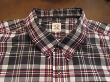 OLD NAVY PLAID SHIRT WITH SHORT SLEEVES & BUTTON DOWN COLLAR SIZE XXL