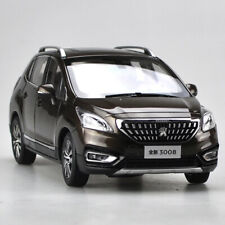 NEW IN BOX ORIGINAL 2016 PEUGEOT 3008 1:18 SCALE BROWN DIECAST MODEL TOY CAR