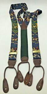 Polo Ralph Lauren Equestrian Horse Riding Sportsman Braces Suspenders Silk