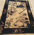 AN AWESOME ANTIQUE  CHINESE PEKING SCENERY RUG