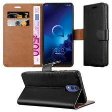 For Alcatel 3L Case Luxury Leather Flip Stand Card Wallet Alcatel 3L Phone Cover
