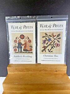 War & Pieces Civil War  Quilt Pattern Blocks  #7,#8  1999 NOS