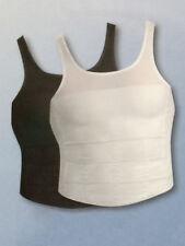 Figur Body Formfit Unterhemd M L Herren 2er-Set schwarz weiß Bauchweg Shapewear