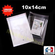 Petit sachet plastique transparent refermable avec rabat auto-collant bijoux