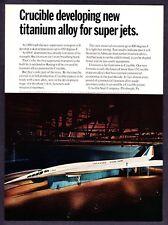 1967 Lockheed Supersonic Transport Scale Mockup photo Crucible Steel print ad