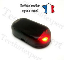Fausse alarme LED voiture Flashant Rouge Phare Maison Caravane Security Factice