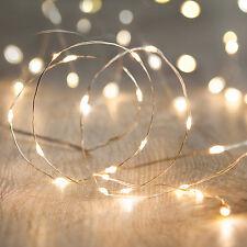 de 100 LED micro Guirnalda luces Alambre Mini Decoración Iluminación
