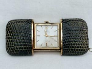 A Good Quality Laco 1950's Period Snake Skin Covered Slide Action Purse Watch.