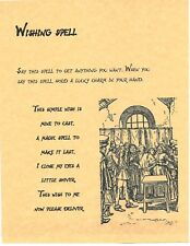 Book of Shadows Spell Pages ** Wishing Spell ** Wicca Witchcraft BOS