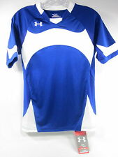 UNDER ARMOUR, YOUTH DOMINATE SHORT SLEEVE JERSEY, LARGE, BLUE/ WHITE, NEW W/TAGS