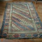 Antique Victorian Oriental carpet for hand crafting or making into carpet bags