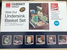 vintage Cabinet Maid slide out under sink basket Clairson made in USA unused