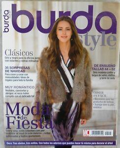 Patrones revista Burda Style diciembre 2010, 47 modelos, 105 paginas