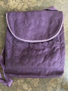 Thirty One Purple Quilted Vary You Convertible Backpack Crossbody Bag