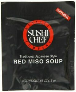 Sushi Chef Red Miso Soup 0.53 oz Packets, Case of 12 Packets