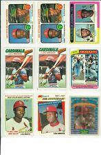 Lot of (14) LOU BROCK VINTAGE BASEBALL CARDS - HOF - ST. LOUIS CARDINALS - MLB