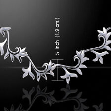 Flower and Leaf .925 Sterling Silver Necklace by Peter Stone Jewelry