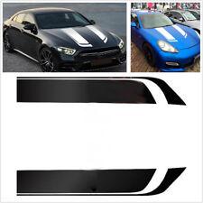 Pair Car Stripes Racing Sports Vinyl Hood Decal Decoration Stickers Waterproof