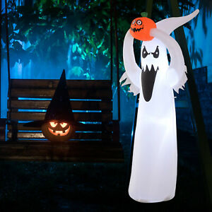 LED Floating Ghost Pumpkin Halloween Decoration  Mains Powered Novelty Fun 6FT