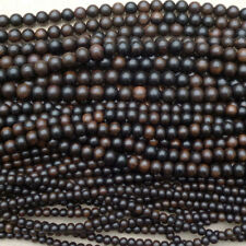 Natural Tiger Ebony Wood Round Beads Various Sizes