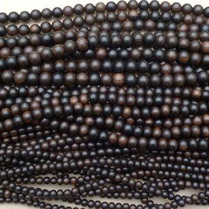Natural Tiger Ebony Kamagong Wood Round Beads Various Sizes