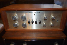 Vintage Marantz 7 Tube Pre-Amplifier w/ Telefunken 12Ax7 tubes Wood Case Tested