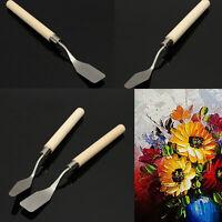 Wood Handle Metal Palette Knife Spatula Oil Texture Painting Art Craft Tool J&C