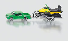 SIKU 1:55 METALLO DIE CAST  PICKUP RIMORCHIO MOTOSLITTA CAR & SNOWMOBILE 2548