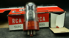 LOT OF 3 RCA Red Base 5690 NOS/NIB vacuum tubes tested and guaranteed (T3)
