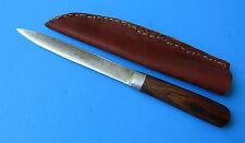 Custom Handmade 154CM Steel Hunting Knife - NM Convex Grind Rustic Forged Dagger