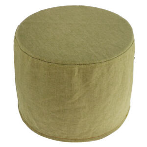 Solid Color Ottoman Cover Protector Elastic Footstool Stretch Slipcover