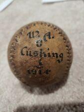 Vintage Incredibly RARE 1914 Worcester Academy Vs Cushing Trophy Baseball Boston