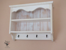 s105 Timber Shelf | Wall Mounted Shelving Unit With Hangers | Kitchen's Cabinet