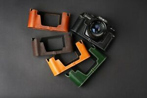 Real Leather Half Camera Case Bag Cover for Minolta X-700 X700 X-570 X570 Film