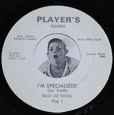 Northern Soul 45~BILLY JOE ROYAL~I'm Specialized/ Really You~Players PROMO CLEAN