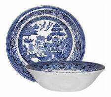 Unboxed Willow Pattern Transfer Ware Pottery Bowls