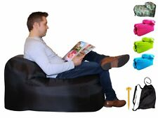 Air Chair by TREADWAY. Inflatable air filled camping chair - Super-easy, in for