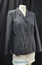 Ann Taylor Loft DK Grey light Coat Jacket Lined Blazer Button cotton Size 8P NEW