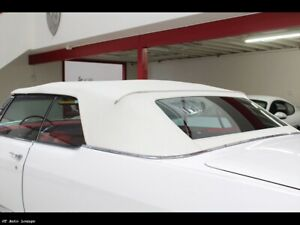 1965-1970 Cadillac Olds 98 Electra Convertible Top Glass Window & Pads, GM White