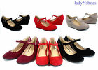 NEW Fashion Round Toe Strap Low Platform Wedge Heel Women's Shoes Size 5 - 10