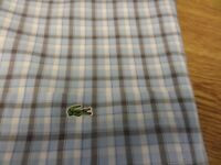 100% GENUINE DEVANLAY LACOSTE SHORT SLEEVE CHECK SHIRT SIZE 40 LARGE NEW