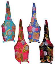 25 New Kantha Stitch Tote Bags Long Sling Boho Gypsy Purse Wholesale Lot
