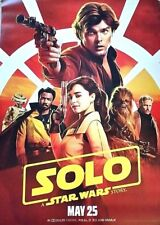 SOLO A STAR WARS STORY 2018 Original 2 Sided 4x6' US Bus Shelter Movie Poster