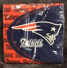 NEW ENGLAND PATRIOTS NFL Luncheon Party Napkins 16 In Each Package