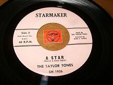 THE TAYLOR TONES - A STAR - POOR LITTLE GIRL  / LISTEN - DOO WOP POPCORN