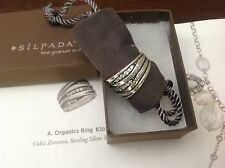 Silpada Organics Ring R2035 Sterling Silver Size 8 Cubic Zirconia