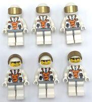 Lego 6 New Mars Mission Astronauts Minifigures Helmet Orange Sunglasses Space